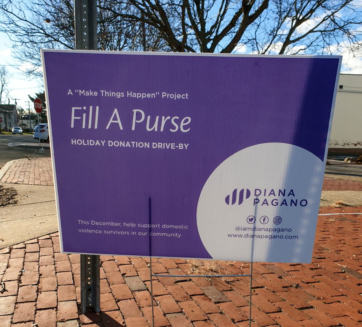 Fill a Purse Domestic Violence Drive Organized by Diana Pagano