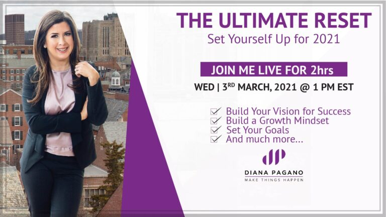 The Ultimate Reset 2021 Live Online Class Diana Pagano