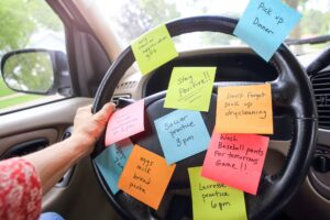 Mom tasks stressed mom chores, Make back to school transition successful